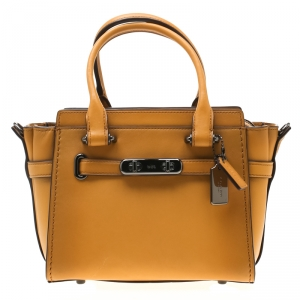 Coach Mustard Leather Swagger 20 Tote
