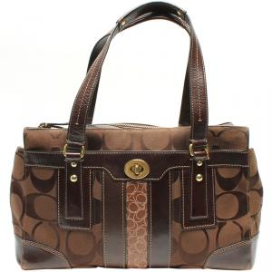 Coach Brown Signature Canvas And Leather Everyday Bag