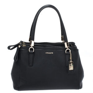 Coach Black Leather Christie Caryall Tote