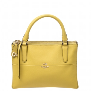 Coach Yellow Leather Crosby Carryall  Tote