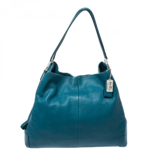 Coach Blue Leather Edie Tote