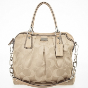 Coach Kristin Op Art Sateen Pleated Satchel