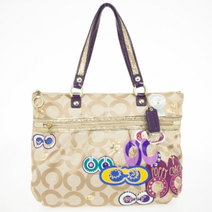 Coach Poppy Graffiti Appliqué Glam Tote
