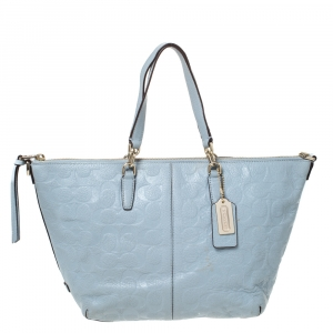 Coach Grey Leather Kelsey Satchel