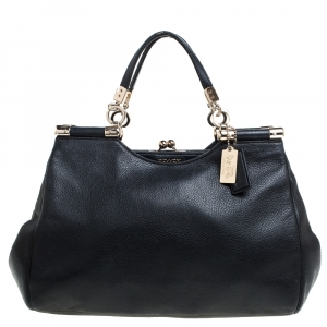 Coach Black Leather Madison Pinnacle Satchel