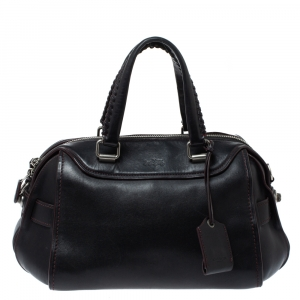 Coach Black Leather Ace Satchel