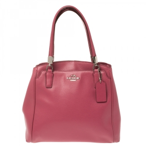 Coach Magenta Leather Satchel