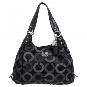 Coach Charcoal Signature Canvas Hobo
