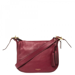 Coach Dark Pink Leather Patricia Legacy Shoulder Bag
