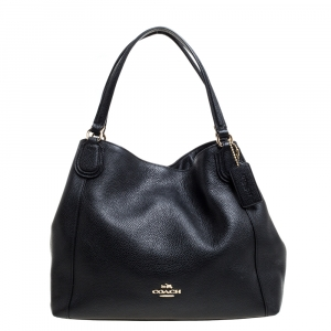 Coach Black Leather Hadley Shoulder Bag