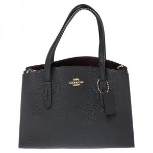 Coach Black Leather Charlie Carryall 28 Bag