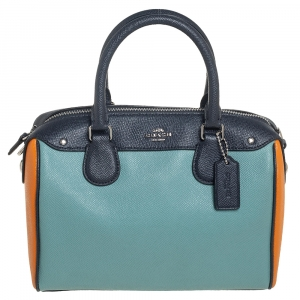 Coach Multicolor Leather Mini Bennett Colorblock Satchel