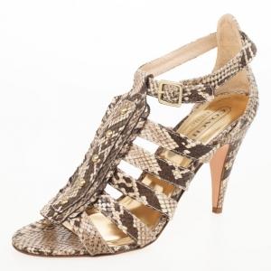 Coach Sarafina Strappy Snakeskin Sandals Size 38.5