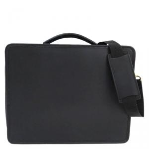 Coach Black Leather/Nylon Laptop Bag