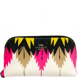 Coach Multicolor Leather Cosmetic Pouch