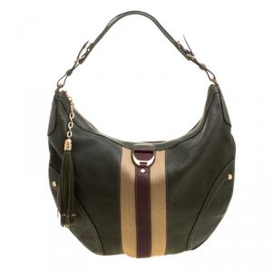 Cole Haan Green Leather Hobo