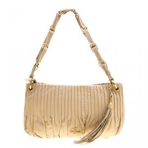 Cole Haan Beige Leather Amalfi Shoulder Bag