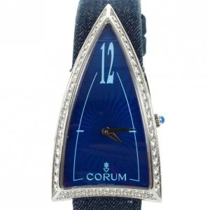 Corum Limited Edition Burj Al Arab Diamond 18 K White Gold Womens Wristwatch 29 MM