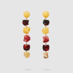 Cult Gaia Multicoloured Leo Resin Drop Earrings