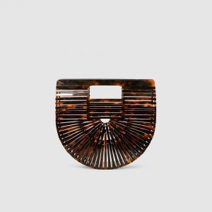 Cult Gaia Brown Acrylic Ark Mini Clutch