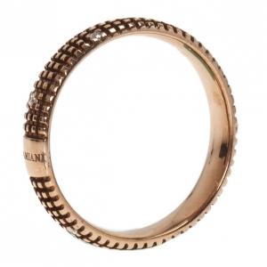 Damiani Metropolitan Dream Diamond 18K Rose Gold Ring Size 55