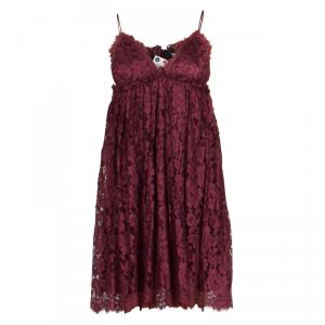 D&G Burgundy Lace Baby Doll Dress S