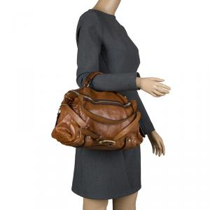 D&G Brown Leather Shoulder Bag