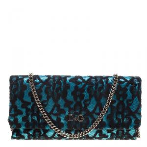 D&G Blue/Black Lace Shoulder Bag