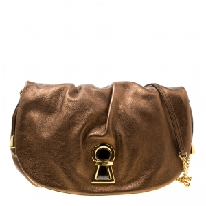 D & G Bronze Leather Vlada Shoulder Bag