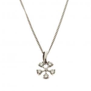 De Beers Corsage Five Diamond Pendant Chain Necklace