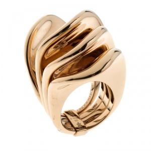 De Grisogono Onde 18k Rose Gold Cocktail Ring Size 55