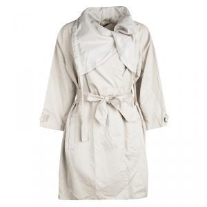 Diane Von Furstenberg Khaki Cotton Belted Cubby Jacket S