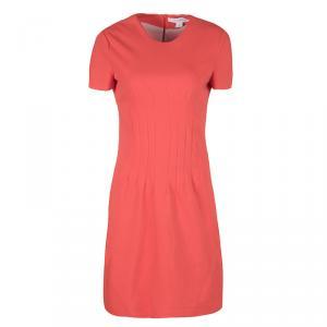 Diane Von Furstenberg Atomic Orange Fitted Short Sleeve Yazmine Dress S - used