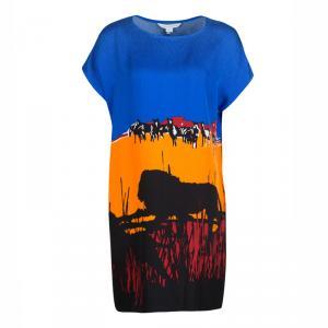 Diane Von Furstenberg Multicolor Lion Landscape Print Harriet Dress XS - used