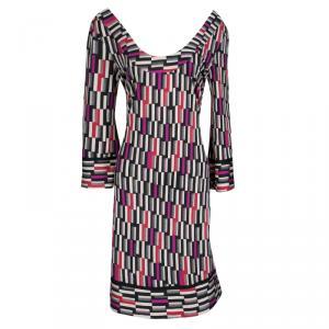 Diane Von Furstenberg Multicolor Printed Silk Jersey Aggie Shift Dress M - used