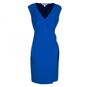 Diane Von Furstenberg Blue Sleeveless Fitted Megan Dress XL - used