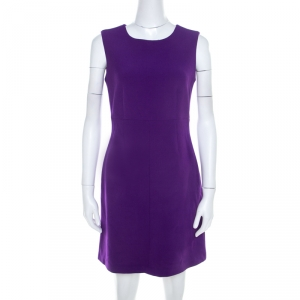 Diane von Furstenberg Purple Stretch Crepe Carrie Sheath Dress S - used