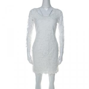 Diane von Furstenberg Off White Long Sleeve Zarita Lace Dress S - used