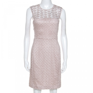 Diane Von Furstenberg Pale Pink Kinchu SG Lace Dress M - used