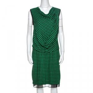 Diane Von Furstenberg Bicolor Patterned And Draped Leala Tweed Dress M - used