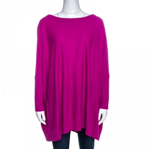 Diane von Furstenberg Roseberry Pink Wool Blend Ahiga Bis Sweater S - used