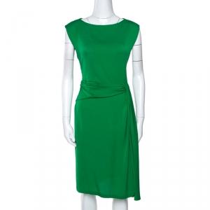 Diane von Furstenberg Green Stretch Silk Aveline Dress M - used
