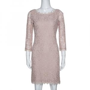 Diane von Furstenberg Beige Lace Zarita Shift Dress M - used