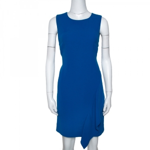 Diane von Furstenberg Neptune Blue Crepe Wylda Shift Dress S - used
