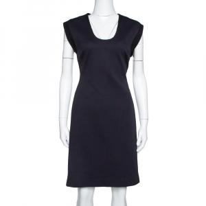 Diane von Furstenberg Black Tweed & Stretch Knit Trim Katherine Dress M - used