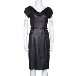 Diane von Furstenberg Black Lurex Wool Blend Ellen Marie Dress S - used