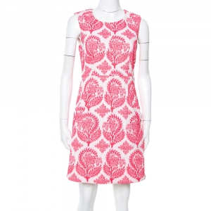 Diane von Furstenberg Pink & White Floral Stamp Carpreena Mini Dress M