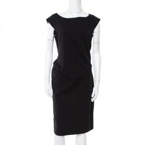 Diane von Furstenberg Black Gabi Knit Suiting Dress M
