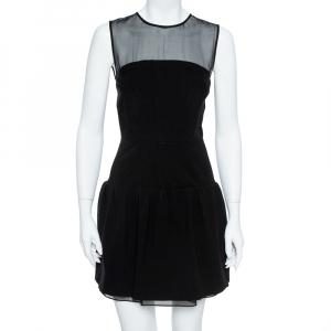 Diane von Furstenberg Black Yarra Mini Dress S - used