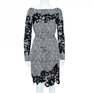 Diane von Furstenberg Monochrome Stretch Silk Ernestina Dress M